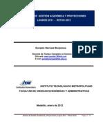 (1) Informe de Gestión Académica 2011 (Gonzalo Narváez Benjumea)