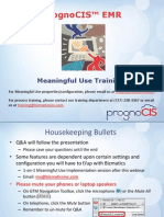 Prognocis Meaningful Use Guidelines