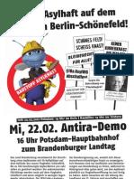Keine Asylhaft auf dem Flughafen Berlin-Schönefeld !