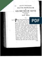 Euler - Solutio Problem at Is Ad Geometriam Situs Pertinent Is
