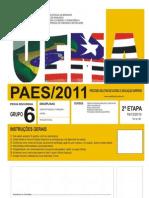 Uema 2011 Prova 2° Etapa - Portugues e Historia