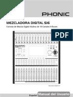 Um Mezcladora Digital S16 Es