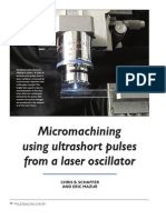 Chris B. Schaffer and Eric Mazur- Micromachining using ultrashort pulses from a laser oscillator
