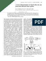N. T. Nguyen et al- Optical breakdown versus filamentation in fused silica by use of femtosecond infrared laser pulses