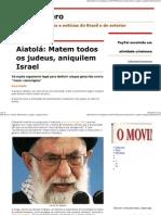 (Julio Severo_ Aiatolá_ Matem todos os judeus, aniquilem Israel)