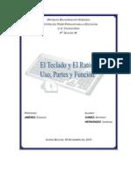 Trabajo Uso Del Teclado y Funciones Del Raton