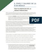 LOS PRINCIPIOS FILOSÓFICOS DE LA EDUCACION BÁSICA MEXICANA