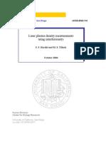 S. S. Harilal and M. S. Tillack- Laser plasma density measurements using interferometry