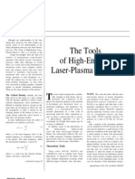 The Tools of High-Energy Laser-Plasma Physics