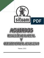 Acuerdos Firmados Revisión Salarial y Contractual 2012-2014