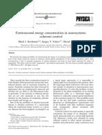 Mark I. Stockman, Sergey V. Faleev and David J. Bergman- Femtosecond energy concentration in nanosystems