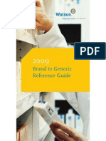 Brand to Generic Reference Guide 2009