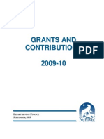 Grants and Contributions 2009 10