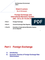 BSP 2005 2011 Lecture Week 6 (Jo) - Foreign Exchange and Internatinal Monetary System (1)