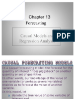 Business Analysis- Causal Models and Regression Analysis