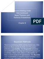 Business Analysis- Bayes Theorem and Posterior Probabilities