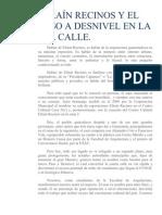 EFRAÍN RECINOS Y EL PASO A DESNIVEL EN LA 4TA CALLE