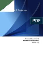 Installation of Microsoft Dynamics