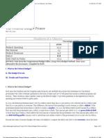 Federal Budget Primer