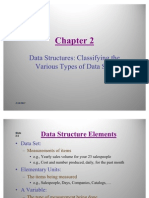 Statistics - Data Structures Classifying the Various Types of Data Sets