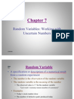 Statistics- Random Variables Working With Uncertain Numbers