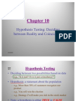 Statistics- Hypothesis Testing