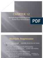 Statistics- Multiple Regression