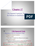 Statistics Chi Squared Analysis