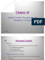 Statistics- Quality Control Recognizing and Managing Variation
