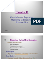 Correlation and Regression Measuring and Predicting Relationships