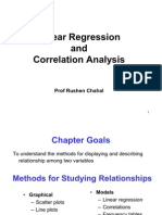 Statistics-Linear Regression and Correlation Analysis