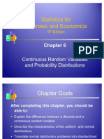 Statistics- Continuous Random Variables and Probability Distributions