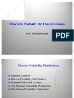 Statistics- Discrete Probability Distributions