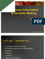Statistics- Quantitative Business Decisions