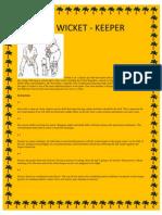 Coach a Wicket Keeper