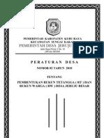 Perdes Rt Dan Revisi