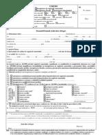 (1) Cerere Inregistrare ONRC