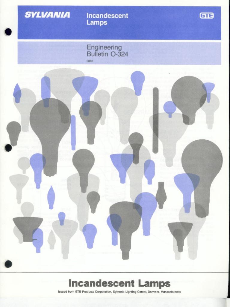 sylvania engineering bulletin incandescent lamps 1988
