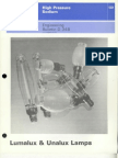 Sylvania Engineering Bulletin - Lumalux & Unalux Lamps 1977
