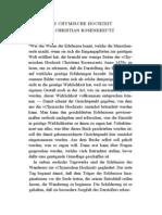Die Chymische Hochzeit Des Christian Rosenkreutz