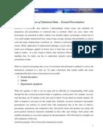 Presentation of Statistical Data – Textual Presentation