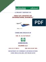 Haider Role of Logistics