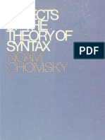 Aspects of the Theory of Syntax - Noam Chomsky (1965)