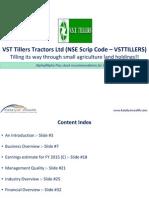 VST Tillers Tractors Ltd (NSE Code - VSTTILLERS - Katalyst Wealth Alpha Recommendation for Dec'11