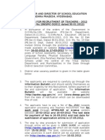 AP DSC notification 2012