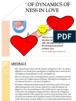 Dynamics of Happiness in Love