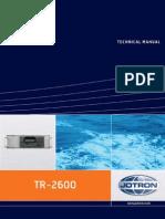 Technical Manual Tron Ais Tr-2600 420914