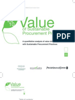 Value Sustainable Procurement Practices