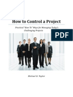 How to Control a Project