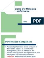 Appraising and Managing Performance Masters